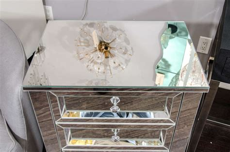 Mirrored Nightstand Sales by Beautiful Custom Mirrored Nightstand For Sale At 1stdibs