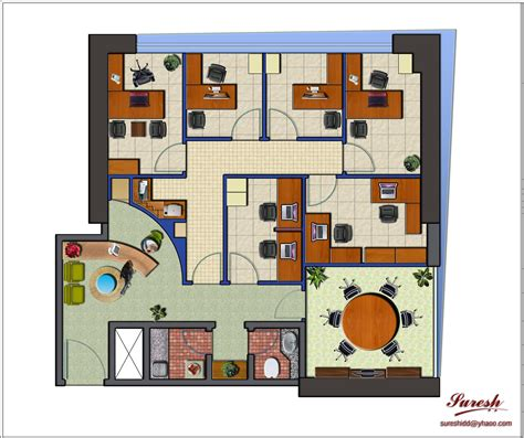 layout of the office the modern chic office layout design