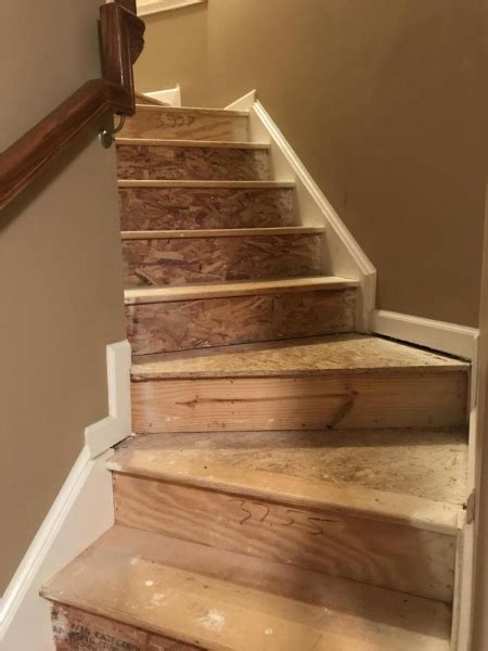 Help! Hardwood And Particle Board Mix Stairs Under Carpet