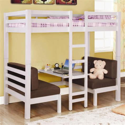 bunk bed with loft white finish modern twin over twin convertible loft bunk bed