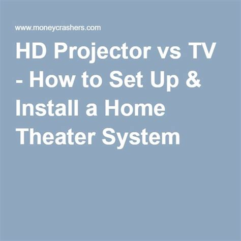 1000 ideas about home theater installation on