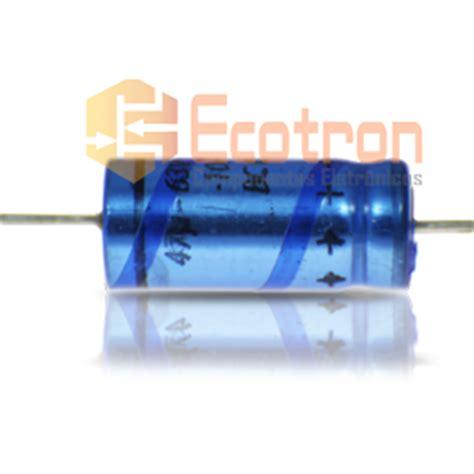 capacitor eletrolitico axial capacitor eletrolitico 47uf 63v axial vishay bc components ecotron componentes eletr 244 nicos