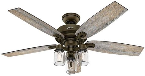 ceiling fan with jar lights 52 quot indoor rustic farmhouse industrial bronze ceiling fan