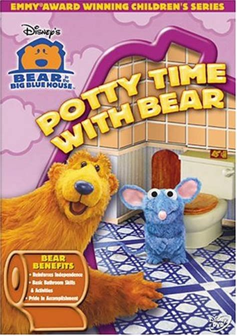bear inthe big blue house dvd bear in the big blue house potty time with bear dvd