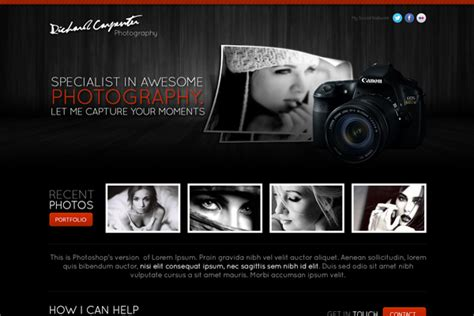 layout design for photography learn how to create a stylish photography web layout