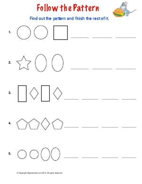 extend patterns worksheets for kindergarten copy and extend patterns preschool and kindergarten math