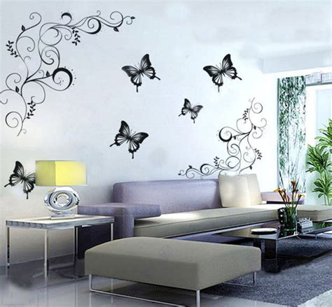 Wall Sticker Uk 60 X 90 decals design lovely butterflies wall sticker pvc vinyl