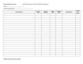 personal property inventory template personal property inventory template go search