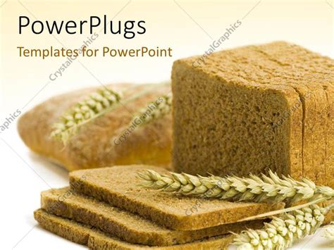 powerpoint themes bread powerpoint template the brown bread with brownish