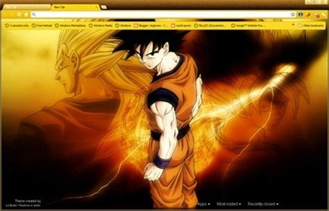 dragon ball z themes for google chrome dragon ball z goku chrome web store