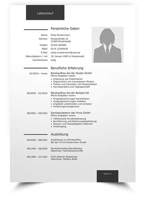 Lebenslauf Design Student Lebenslauf Muster 1 Klassische Bewerbungsvorlage