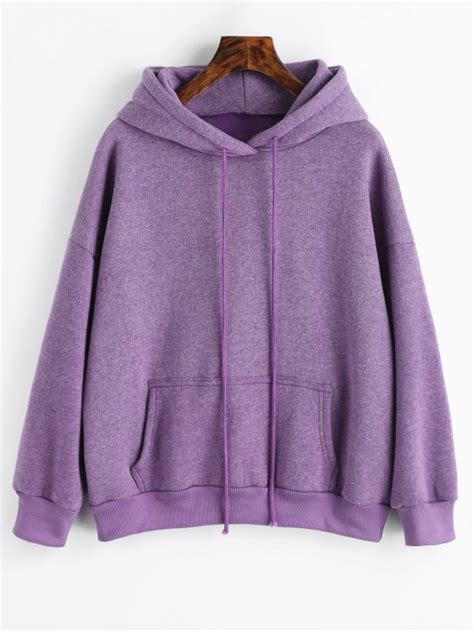 Hoodie Purple 2019 sporty pocket fleece hoodie in purple s zaful