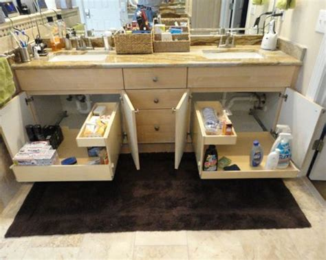 Bathroom Vanity Slide Out Shelves Bathroom Pull Out Shelves