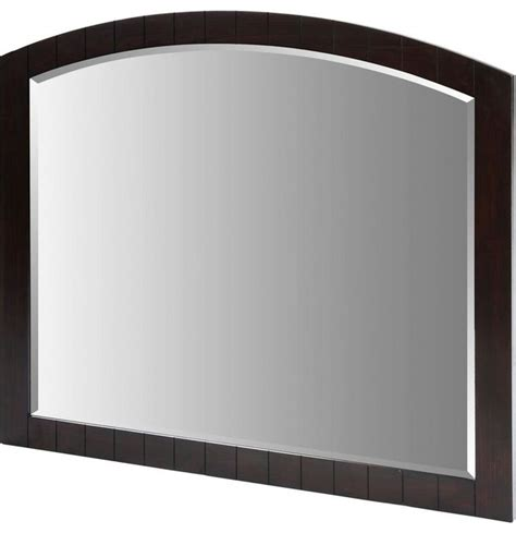 framed wall mirror espresso 42 quot x 48