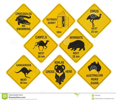 printable road signs australia australian road signs collection stock photo image of