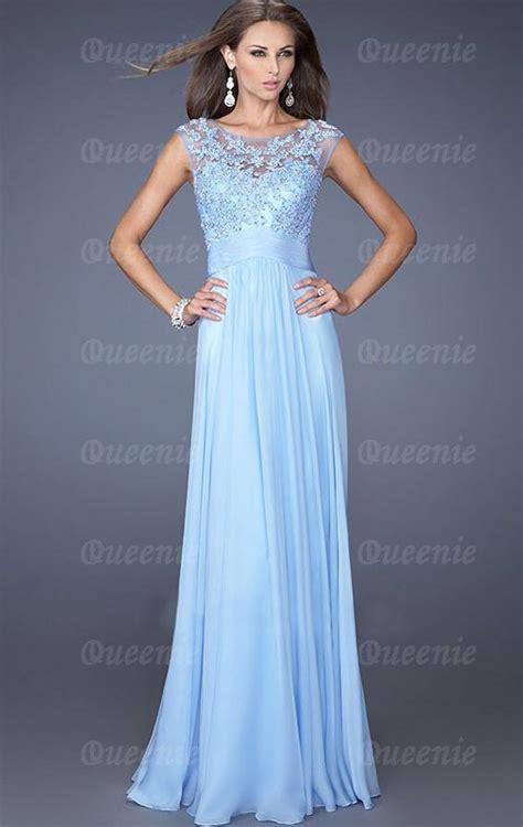 Abendkleider Ballkleider by Wunderbares Bodenlanges Blaues Chiffon Ballkleid