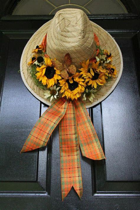 garten strohhut 40 coole sonnenblumen deko ideen