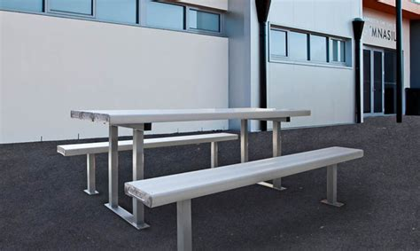 aluminium bench seating park furniture tasmania melbourne sydney brisbane