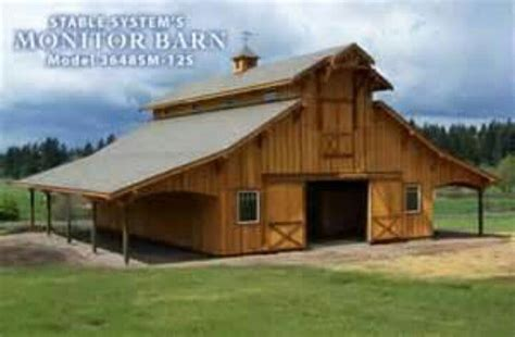 diy monitor pole barn kits plans free monitor barn with lean to s build this shape with taller