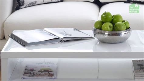 white rectangle coffee table white high gloss rectangle coffee table with shelf