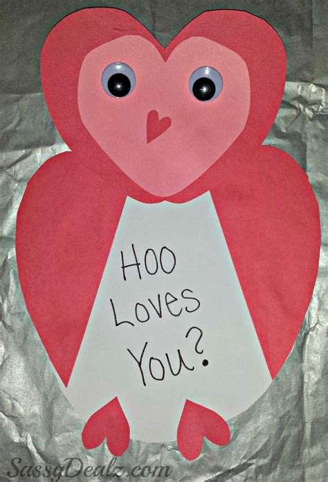 kid valentines owl valentines day card idea for crafty morning