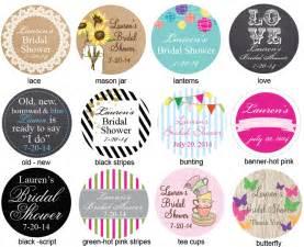 bridal shower personalized labels 20 pieces