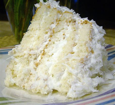 homemade coconut cake recipe easy coconut refrigerator cake recipe pinterest