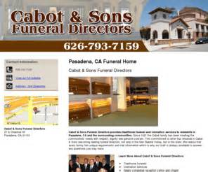 cabot funeral home cabotandsonsfuneral funeral home pasadena ca cabot