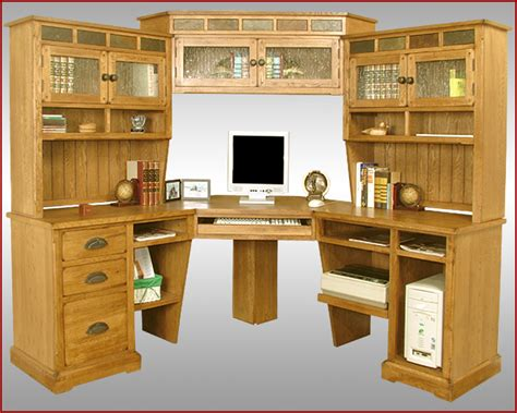 solid oak l shaped desk with hutch oak corner desk with hutch desk design ideas