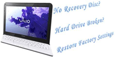 factory reset vaio laptop vaio rescue data