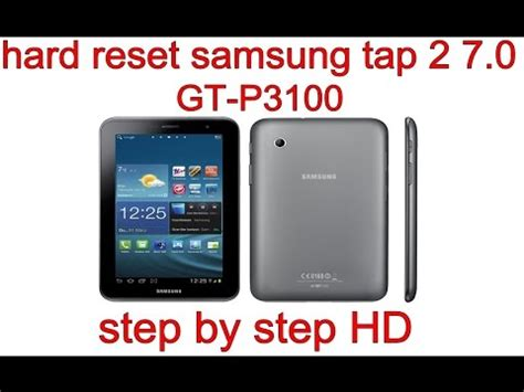 reset samsung p3100 samsung galaxy tab 2 7 0 video clips