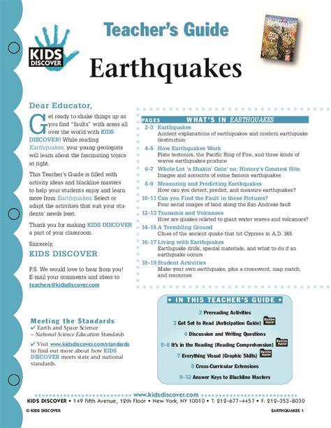 earthquake gov earthquakes kids discover