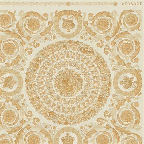 heritage tile wallpaper cream gold wallpaper