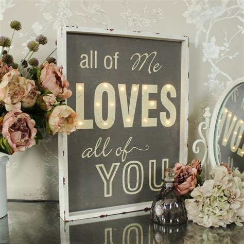 light up words for wall cream grey led light up wooden wall sign shabby vintage