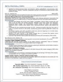 manufacturing resume sample resume sample of engineering