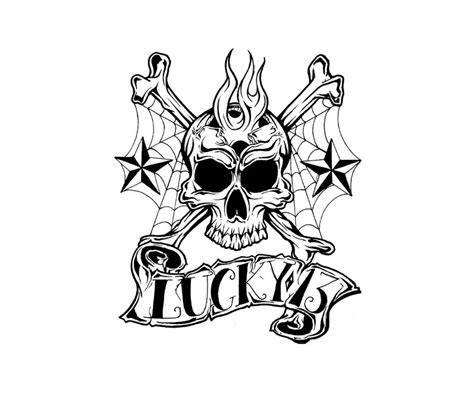 bad luck tattoo designs lucky 13 designs ideas on