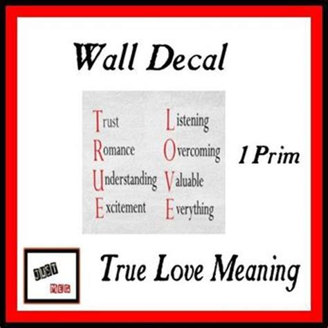 origin of the word love second life marketplace just meg wall decal true love