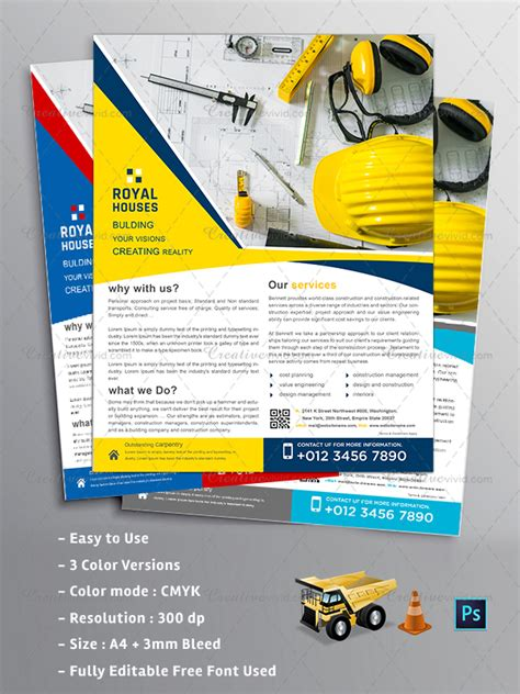 construction flyer templates free 31 construction flyer templates free premium