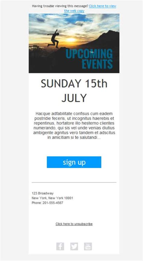 Free Email Templates Download Design Fitness Event Invite Free Fitness Newsletter Templates