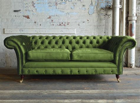 Velvet Chesterfield Sofa by Woodstock Velvet Chesterfield Sofa Abode Sofas