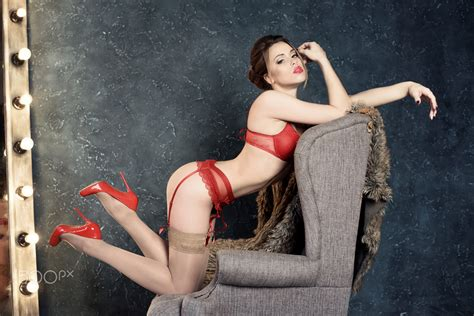 brunette bent over heels wallpaper women brunette lingerie kneeling red