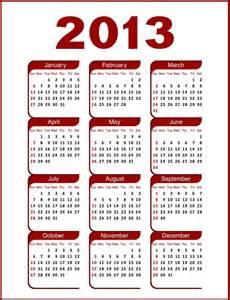 Dominica Calendã 2018 2013년 달력 Calendar 네이버 블로그