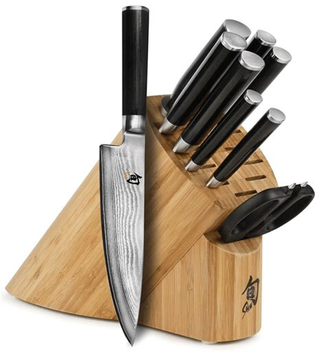 the best kitchen knives set the 3 best shun knife sets from japan with