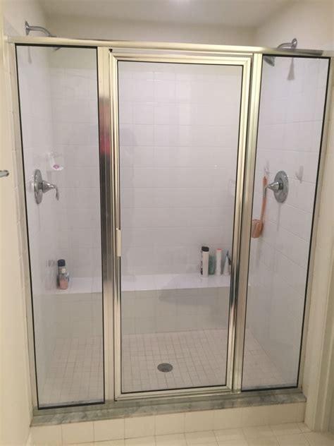 Frameless Shower Doors Vs Framed Before After Framed Vs Frameless Shower Door Replacement Richmond Va Frameless Shower