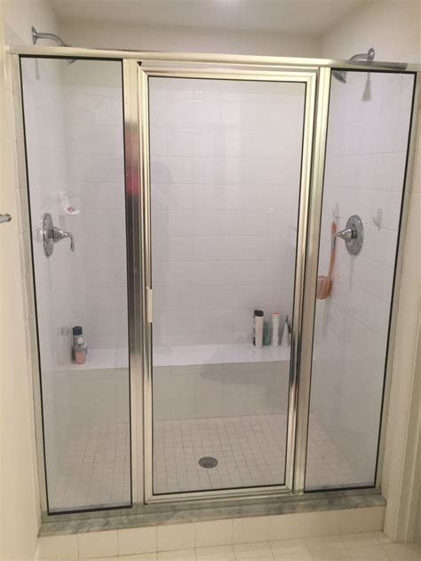 Before After Framed Vs Frameless Shower Door Frameless Vs Framed Shower Doors