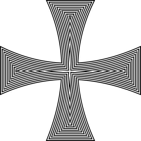 Cross Line clipart maltese cross line