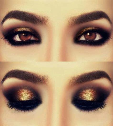 7 Dramatic Eyeshadow Looks For Winter by Makeup Ideas Dramatic Eye Makeup With Gold Eyeshadow