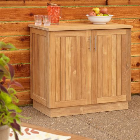 teak outdoor storage cabinet 36 quot artois teak outdoor kitchen cabinet contemporary