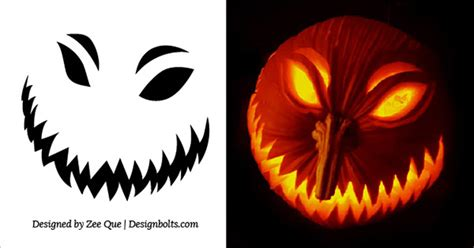 20 free scary halloween pumpkin carving stencils faces