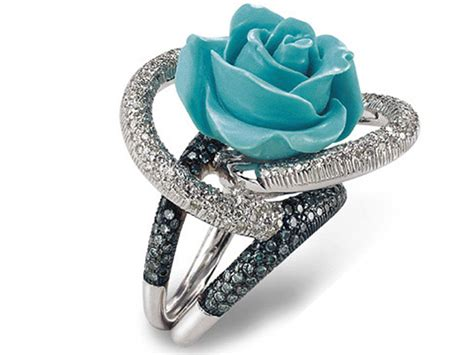 Picture Of A Blue Ring by Turquoise Wedding Rings Wedding Planning